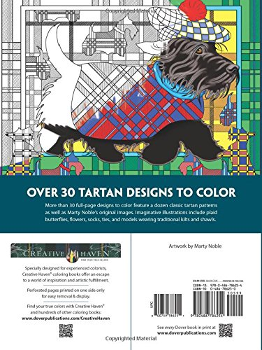 Amazon Creative Haven Tartan Designs Coloring Book Adult 0800759786251 Marty Noble Books
