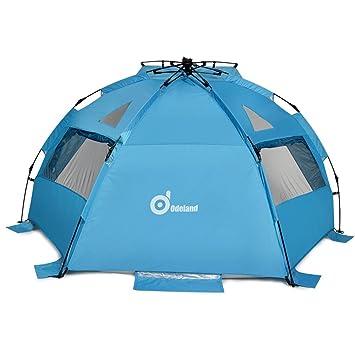 Beach Tent ODOLAND 94u201dx78u201d Easy Up Beach Tent Pop Up Sun Shelter  sc 1 st  Amazon.com & Amazon.com: Beach Tent ODOLAND 94u201dx78u201d Easy Up Beach Tent Pop Up ...