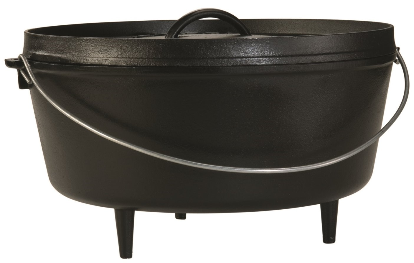 Lodge L14DCO3 Deep Camp Dutch Oven, 10 Qt ,Black