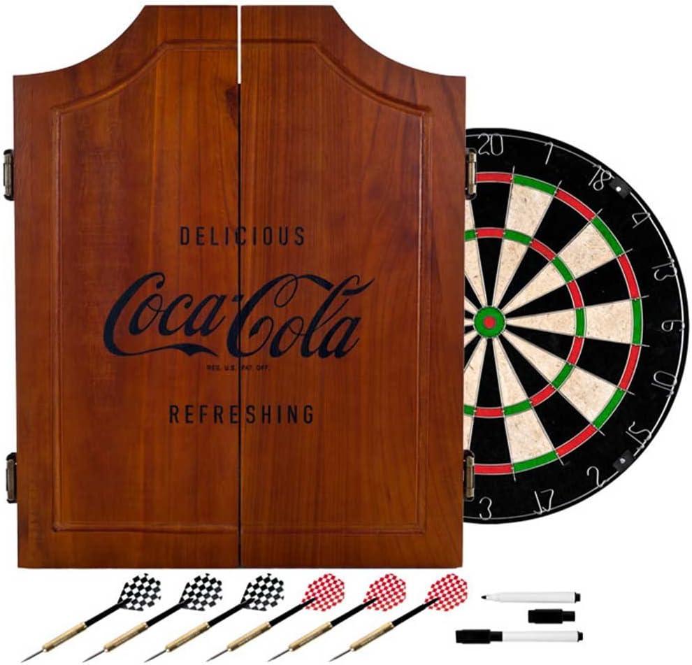 Coca Cola Vintage Dart Cabinet Dartboard Cabinets Sports Outdoors