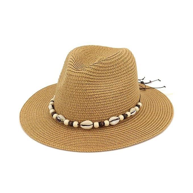 060db163824c7 Gorros verano nueva moda verano sombrero de estilo paja sombrero con concha  jaz ropa accesorios jpg