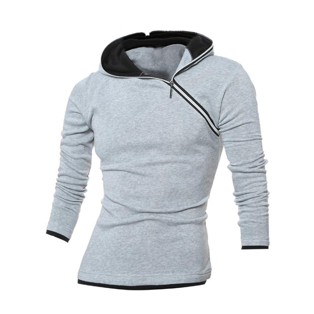 Amazon.com: Muranba Chaqueta de la chaqueta de la sudadera con capucha caliente de la sudadera con capucha del invierno de los hombres Outwear el suéter ...