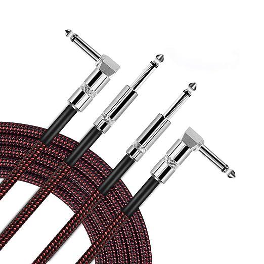 OTraki Profesional Instrumento Cable para Guitarra Bass Teclado 2 ...