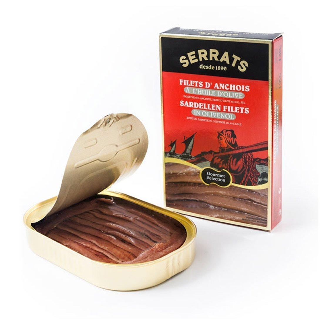 Filets d'anchois à l Huile d'Olive 125g 6 unités