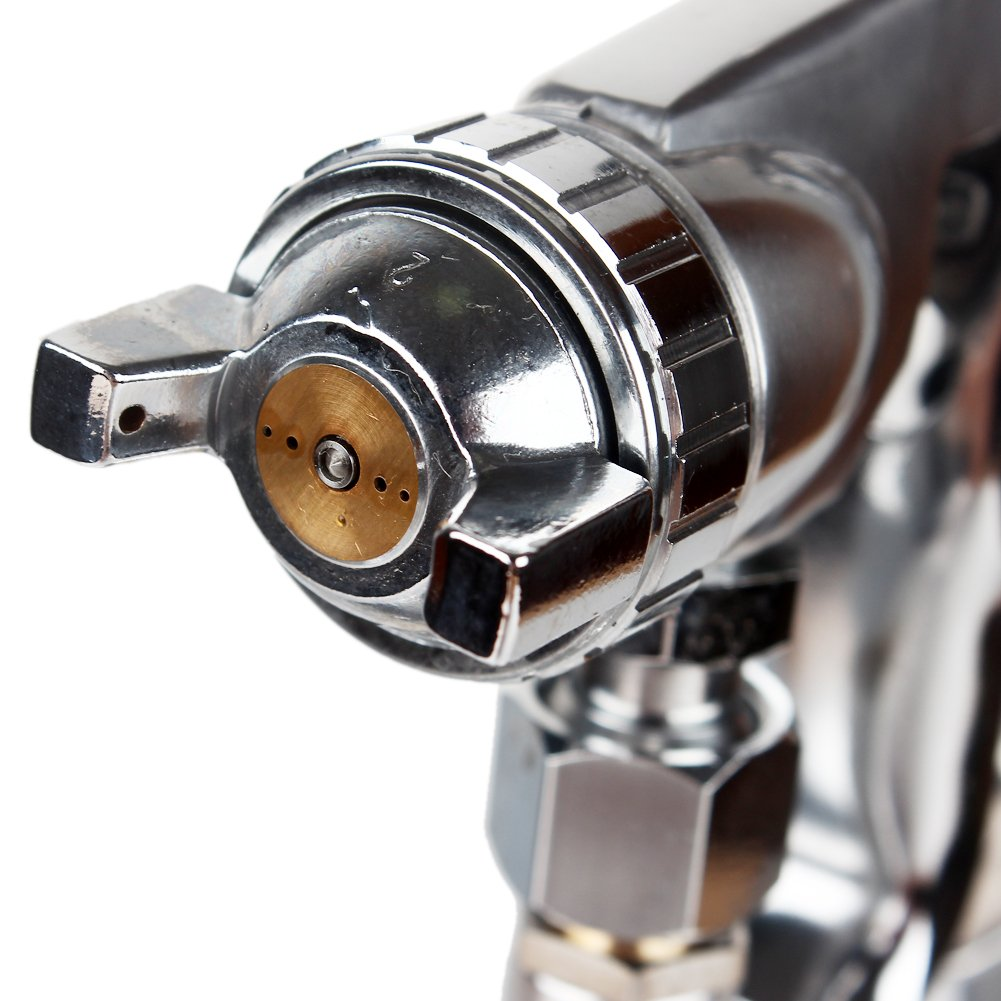 High Pressure Spray Gun with 1000cc Cup, 2.0mm Nozzle, sliver by Gedu (Image #3)