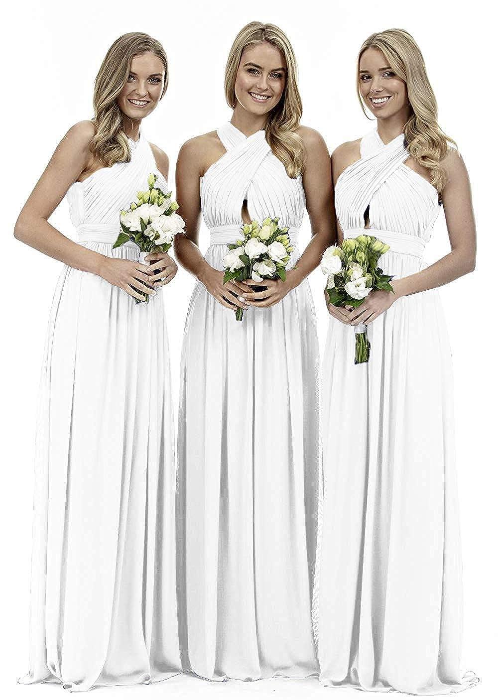 White liangjinsmkj Womens Knee Length V Neck Lace Mother of The Bride Dress A line with