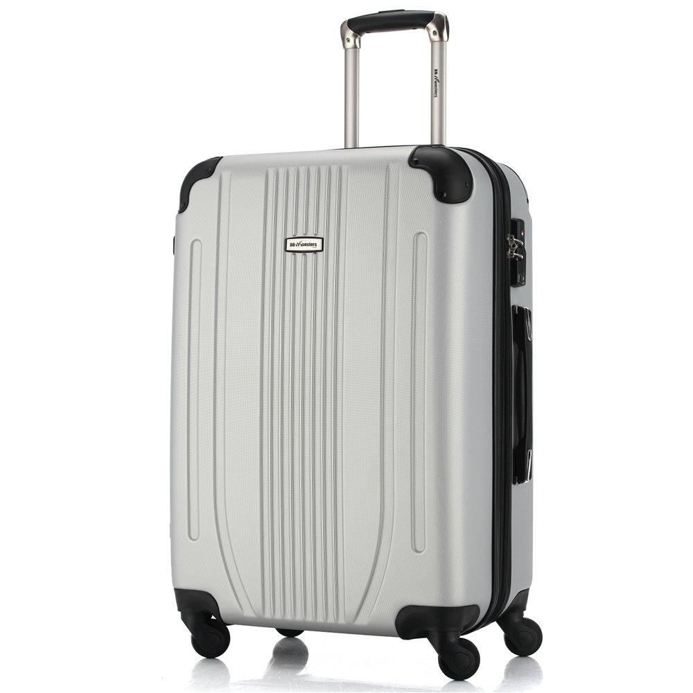 [BB-Monsters ビービーモンスターズ] スーツケース 軽量 ファスナータイプ 4サイズ キャリーケース Flower Fairy (大型、L、28, シルバー) B06X1G7QHN 大型、L、28|シルバー シルバー 大型、L、28