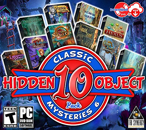 Hidden Object Classic Mysteries 6 - 10 Great Games - Collectors Editions Included (Hidden Object Games Pc)
