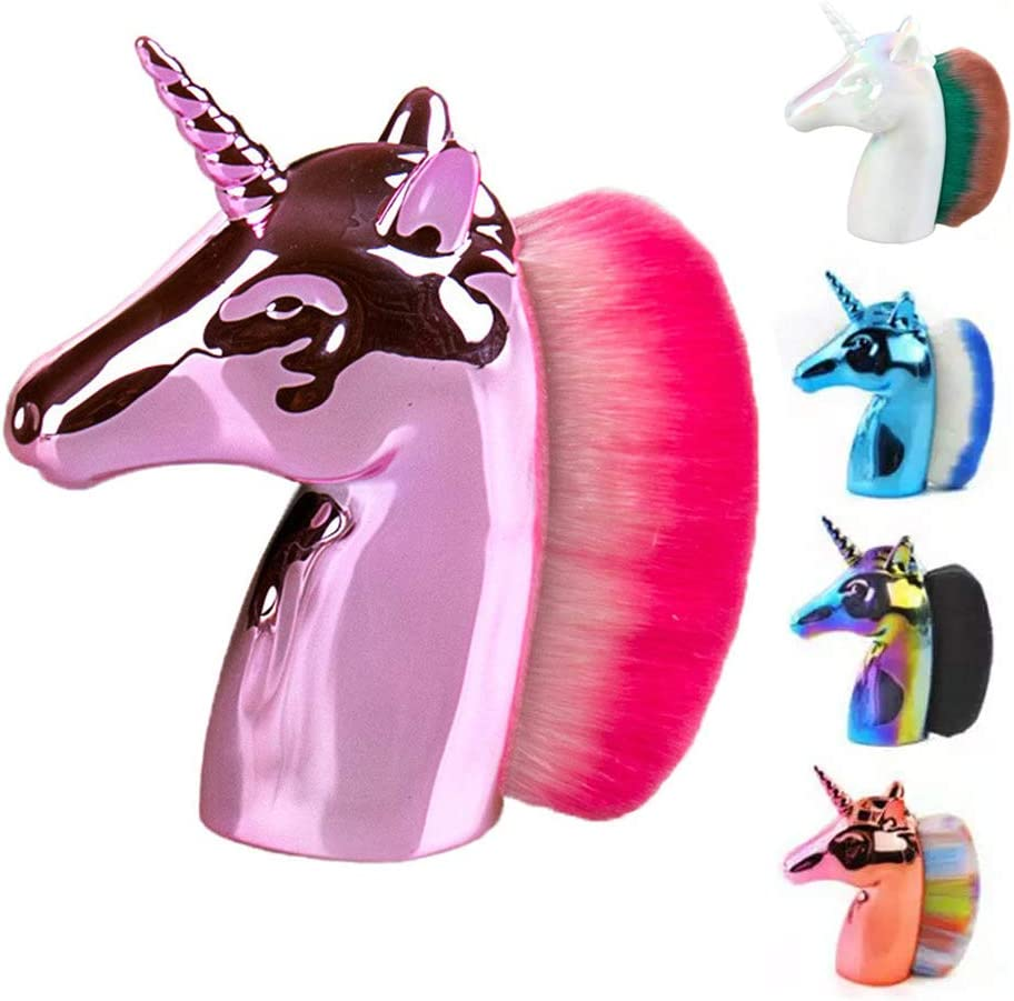 LETGOPrime Deals Day Deals 2020-Unicornio Brocha de maquillaje corrector de unicornio Fundación Premium cosmética Brocha de maquillaje mejor regalo para niñas y mujeres, , , Rosado,, ]