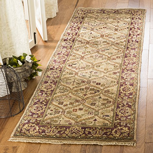 Brown Hand Knotted Wool - Safavieh Old World Collection OW119B Hand-Knotted Traditional Oriental Camel Wool Runner (2'6