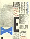 img - for Fine Print on Type: The Best of Fine Print Magazine on Type and Typography book / textbook / text book