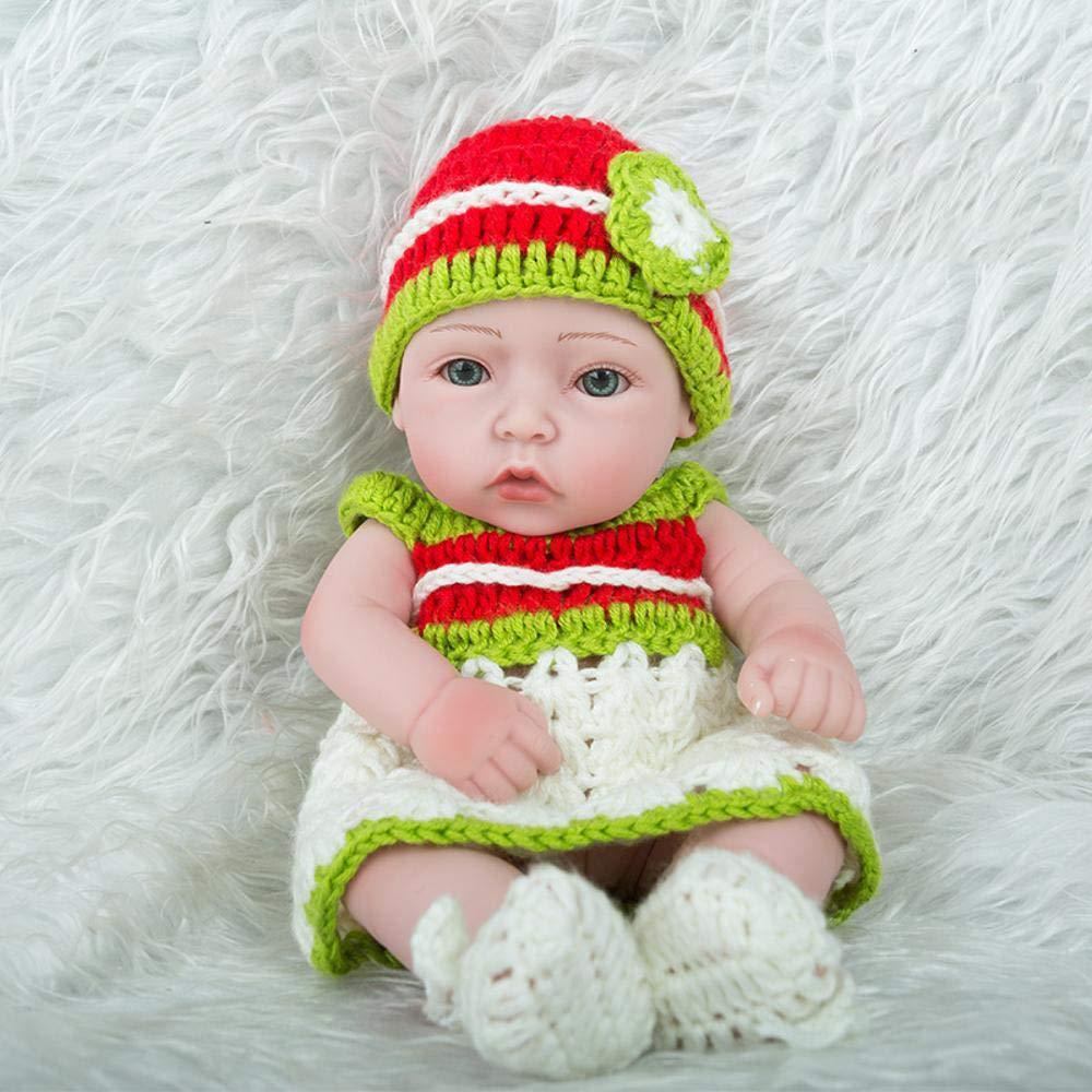 Hongge Reborn Baby Doll,Lebensechte Silikon Silikon Silikon Reborn Puppe lebensecht Baby Puppe Spielzeug Kinder Geburtstagsgeschenk 28cm b93585