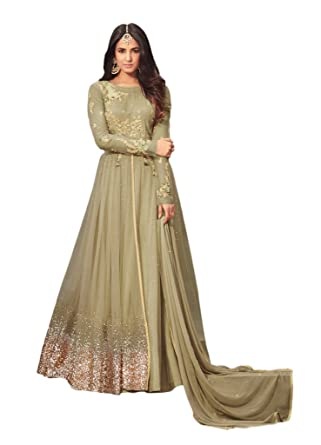 fe80712314 Ethnicwear Exclusive Green Colour Net Sequence Anarkali Dress Indian  Pakistani Party Wear Salwar Suit at Amazon Women's Clothing store: