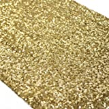 Koyal Wholesale Sequin Table Runner, 12 by 108-Inch, Gold