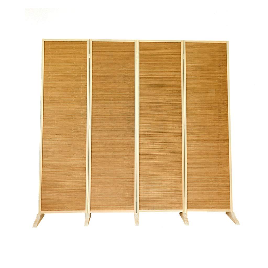 Even Raumteiler aus Naturbambus, Dekoratives durchbrochenes Design, 4/6-teiliger Bambus, Raumteiler im japanischen Stil, einfach, mit Holzrahmen/freistehend,Partition Screens