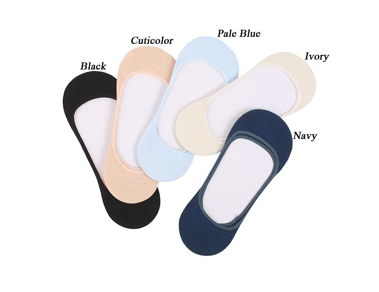 Women No Show Socks Cotton Liner Socks Non-Slip No Show Socks Low Cut Boat Socks 5-Pairs by Ayiran (Image #3)