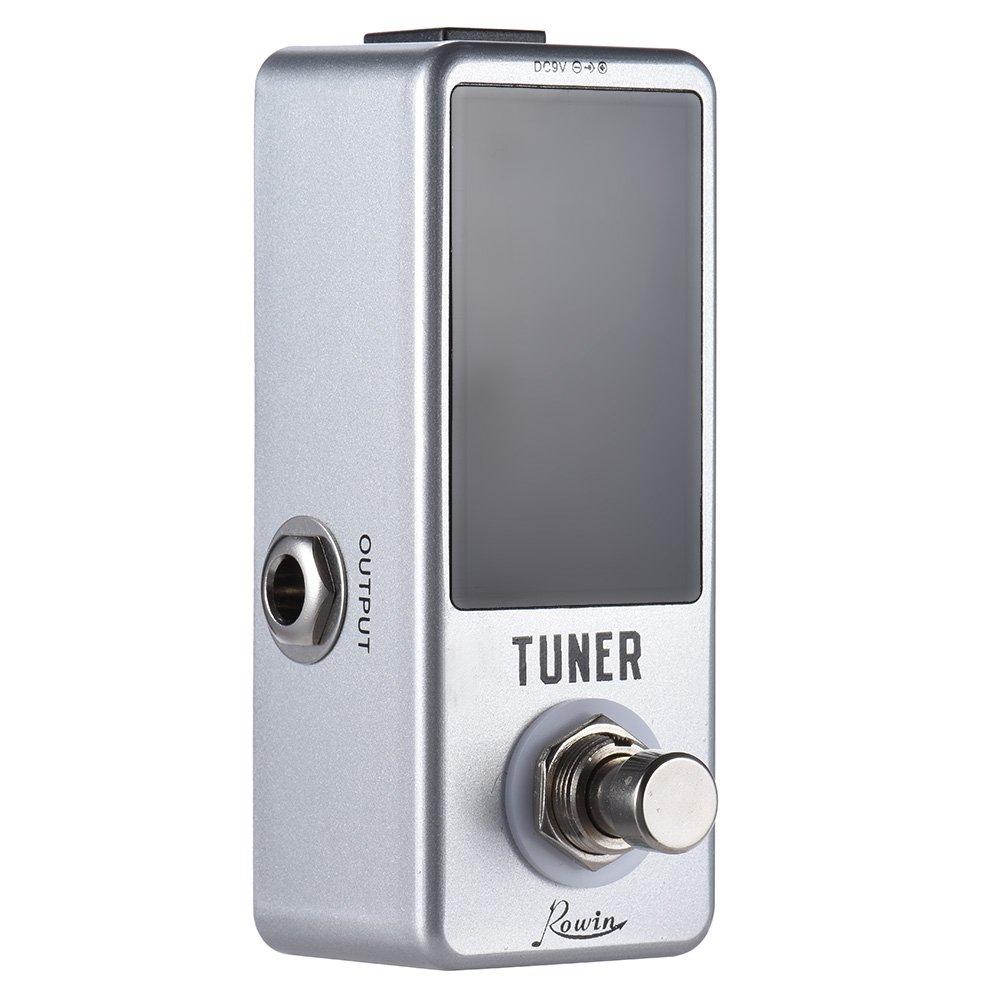 Ammoon Mini-Gitarren-Pedal LED-Display, für Bass/Gitarre, Tuner, True Bypass für Bass/Gitarre OYN3165365910426WW
