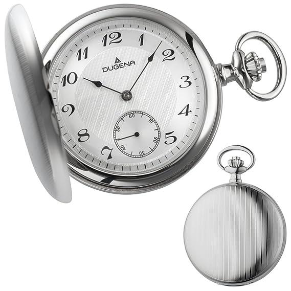 Dugena Hombre Reloj de Pulsera mecánica Reloj de Bolsillo analógico Cuerda Manual 4460500: Amazon.es: Relojes