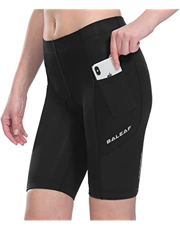 baf93e011 Baleaf Womens Bike Shorts with Padded Wide Waistband UPF 50+ for Cycling,  Spinning,