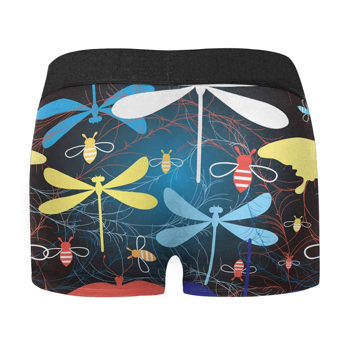 USA Independence Day XS InterestPrint Mens Novelty Boxer Briefs Underpants 4th of July