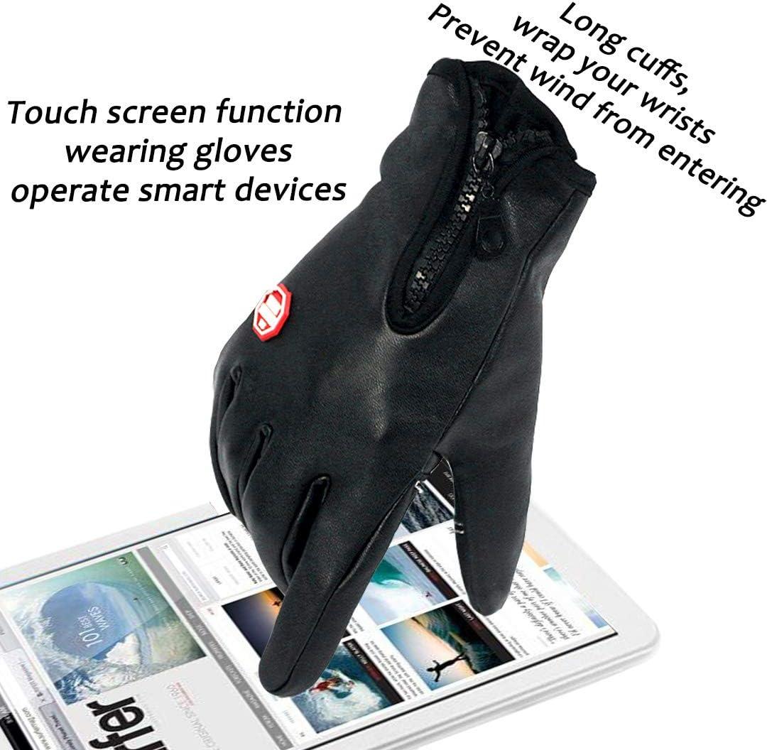 Touchscreen Handschuhe Herren Winter Lederhandschuhe Smartphone Winterhandschuhe Herren oder Damen Wasserdichte Handschuhe Sport Fitness Wasserfest for Reithandschuhe Fahrradhandschuhe M/änner Frauen