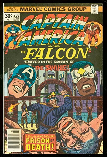 (CAPTAIN AMERICA #206 1977-FALCON-JACK KIRBY-GREAT FN/VF )