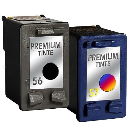 Refill Set de cartuchos de impresora para HP 56 + hp 57 PSC 1300 ...