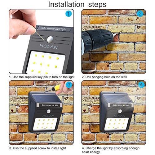 Solar Motion Sensor Light Mulcolor 12 Led Wireless