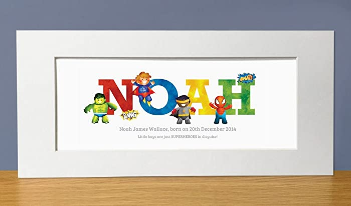 Superhero adventures personalised name print superhero name gifts superhero adventures personalised name print superhero name gifts baby gifts christening gifts from negle Images