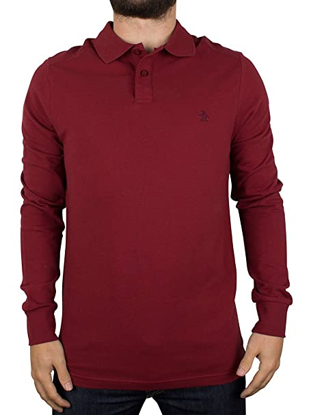 Original Penguin Hombre Slim Fit Longsleeved Daddy Polo Shirt ...