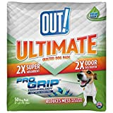 quilted dog pad - OUT! Ultimate Pro-Grip Dog and Puppy Pads, Regular - 50-Count