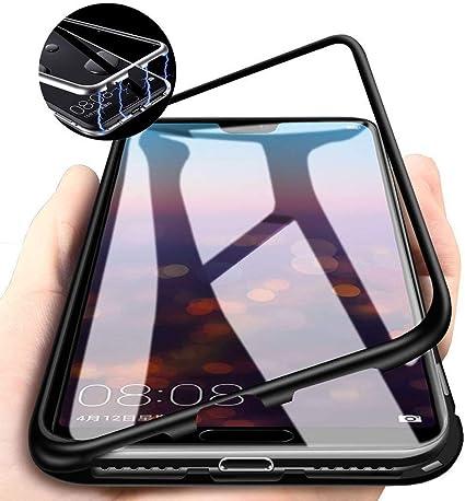 Funda Huawei Mate 10, [Tecnología de absorción magnética] [Marco de Metal] [Parte Posterior de Vidrio Transparente Templado] Funda de teléfono a Prueba de arañazos, para Huawei Mate 10 Phone: Amazon.es: Electrónica