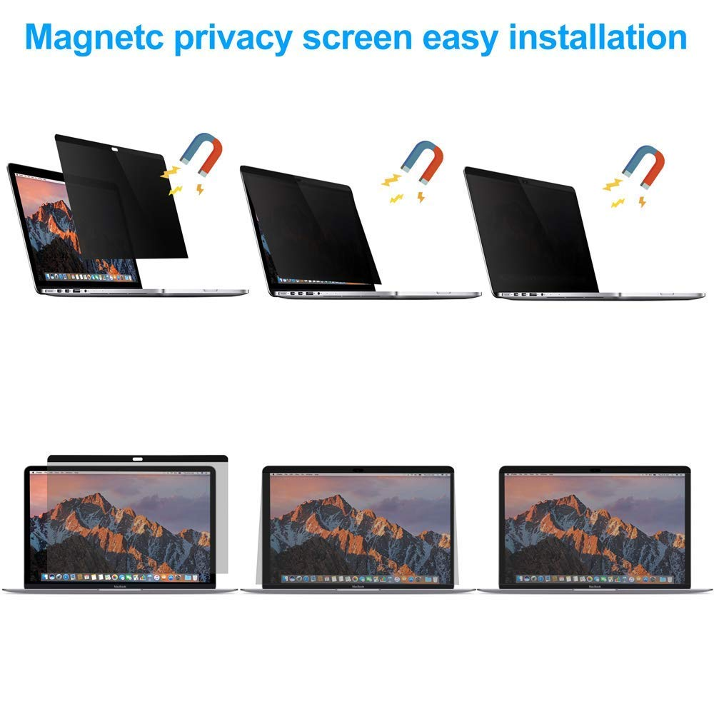 MacBook pro Privacy Screen Protector 13 and 15 inch,Blocks Prying Eyes,Magnetic and Ultra Slim.Easy ON/Off … (MacBook Pro 13 inch (2016-2018)) by JMLY (Image #5)