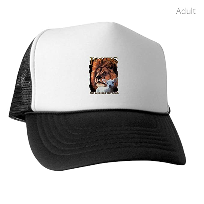 6aa260da Amazon.com: Royal Lion Trucker Hat (Baseball Cap) Jesus The Lion and ...