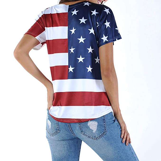 f7ad7ce87353a American Flag Print Blouses