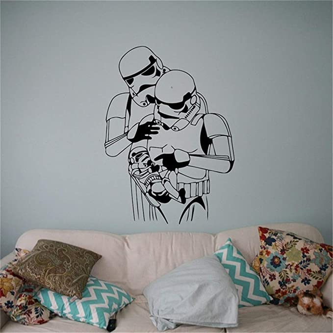Stormtrooper Bebé Familia Tatuajes de Pared Etiqueta de Vinilo de ...