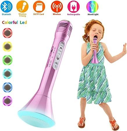 Microfono Inalambrico Bluetooth, Micrófonos Inalámbricos Microfonos Karaoke Portatil con Altavoz Grabadoras, Microfonos Instrumentos Musicales para ...