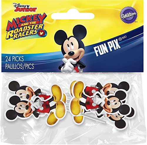 Wilton 2113-7108 Mickey and the Roadster Racers 24 Count Fun Pix, Assorted