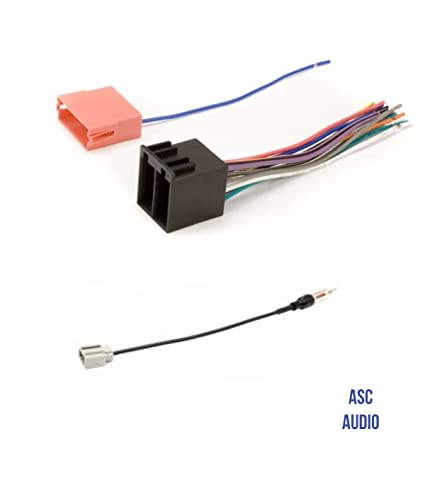 amazon com asc audio car stereo radio wire harness and antenna