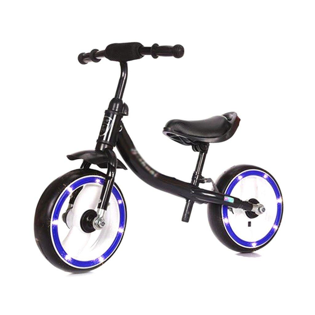 子供用スクーターペダルなしバギー子供ダブルホイール自転車子供用スクーター無ペダル2輪スクーター2ラウンドバランス2歳から8歳までのカーウォーカー B01M03WMUA Black Black