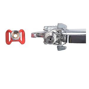 DUSICHIN DUS-036 Airless Paint Spray Gun, High Pressure 3600 PSI 517 TIP Swivel Joint (Color: White, Tamaño: 7/8)