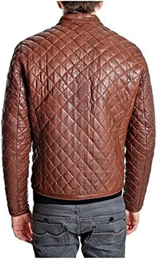 New Mens Leather Soft Lambskin Motorcycle Bomber Party Jacket LF871