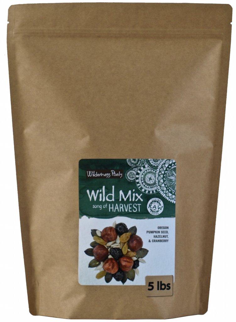 Wilderness Poets Harvest Trail Mix - Raw Trail Mix -''Song of Harvest'' Wild Mix - Nut, Seed & Berry Snack Mix (Hazelnut, Pumpkin Seed, Cranberry, Golden Raisins, Sunflower Seeds) - 5 lb (80 oz) Pouch