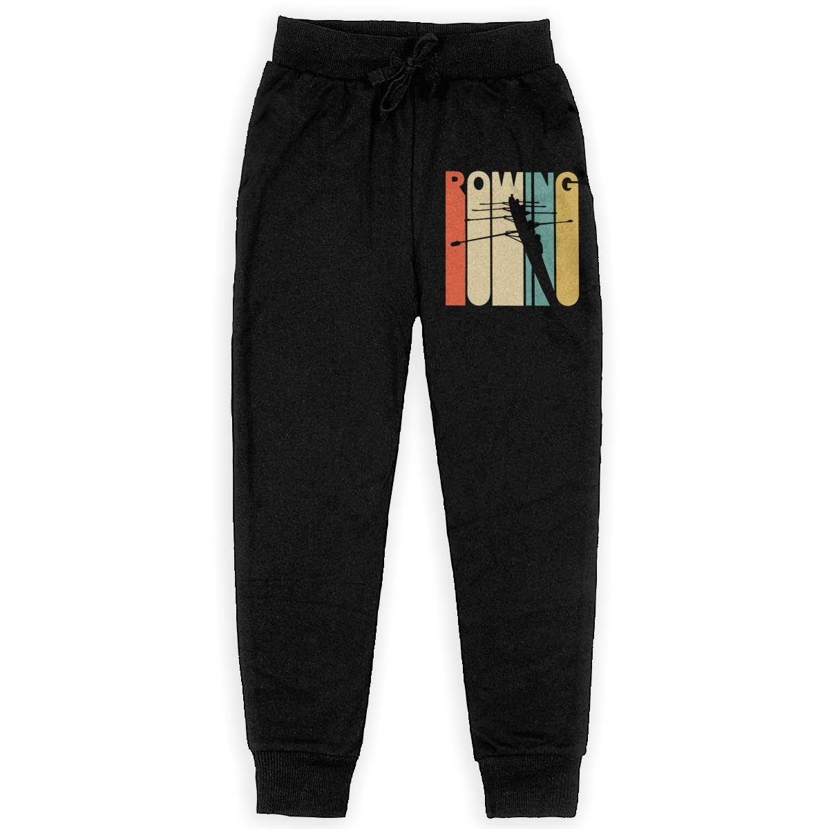 Youth Active Pants for Teen Girls Vintage Style Rowing Silhouette Soft//Cozy Sweatpants