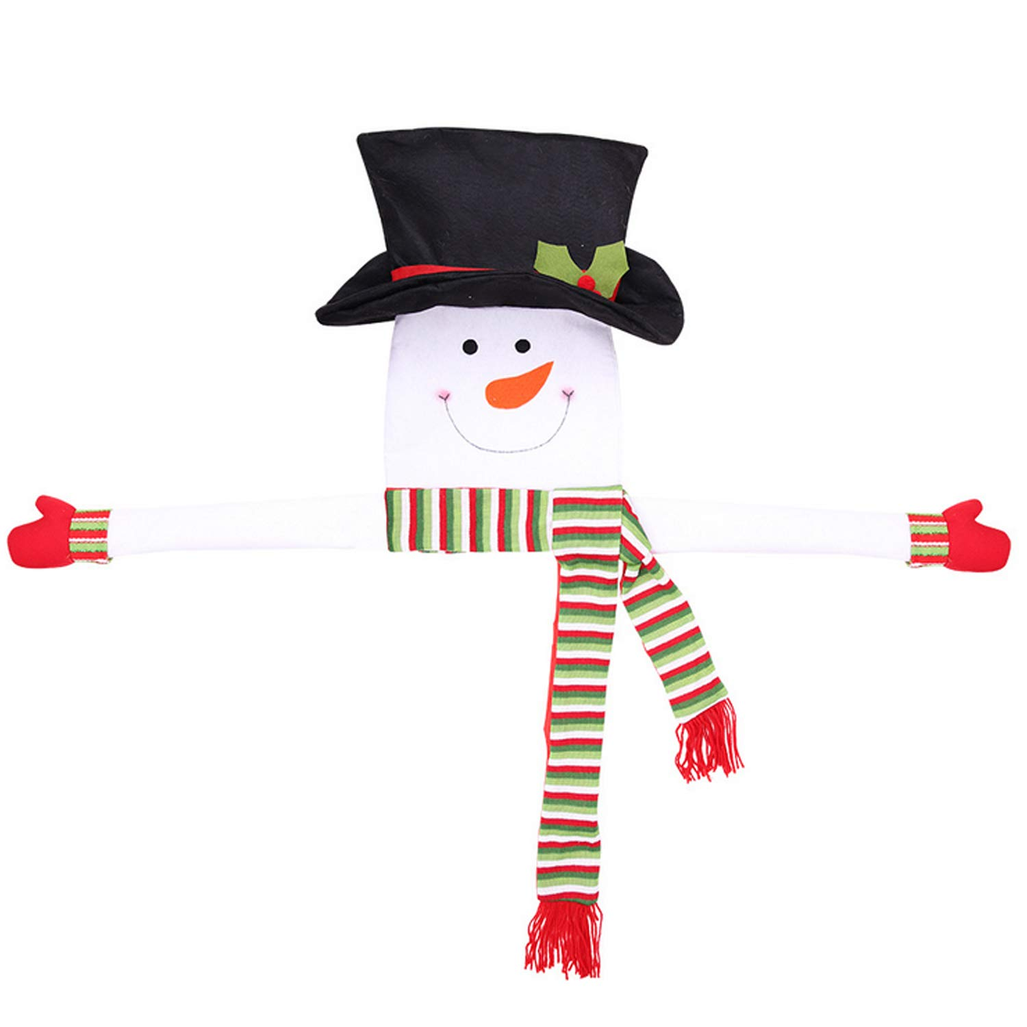 Cute Snowman Hat Hugger Christmas Tree Toppers Ornament Xmas Christmas Eve Home Decorations Party Supplies 52.36 x 45.28inch Gosear A