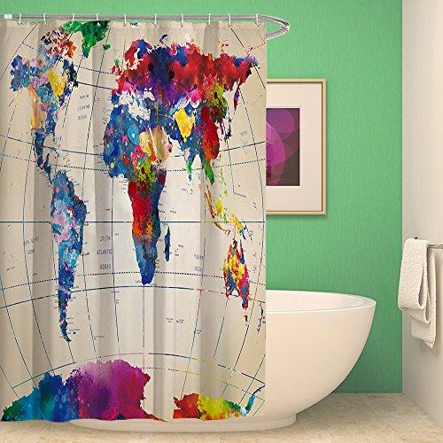 3D Bathroom Polyester Waterproof Shower Curtain 7# - 5