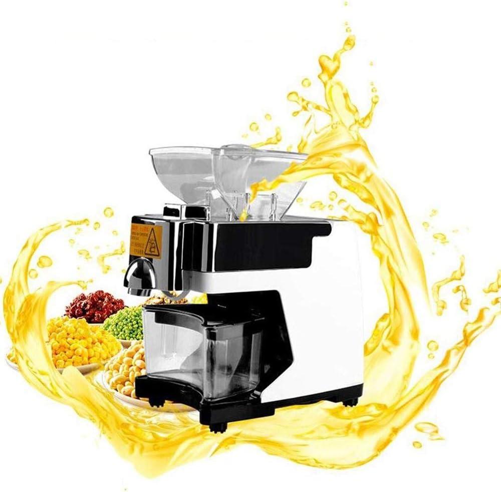 YWAWJ Domésticos y comerciales Pequeño prensados en frío extractor de aceite de colza automática expulsor de ricino coco de oliva, aguacate, coco, maní, ricino, semilla de cáñamo, de canola, sésamo,