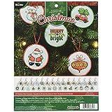 Bucilla 86672 Counted Cross Stitch Mini Ornament Kit, Christmas, Set of 30
