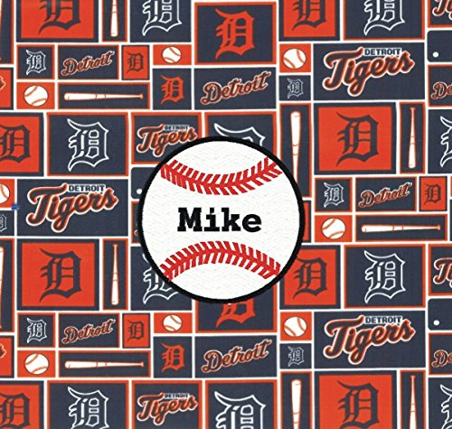 cheap for discount 446a4 78e59 Amazon.com: Detroit Tigers Baseball Fabric Personalized ...