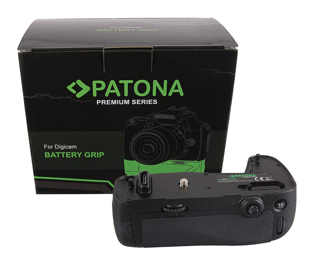 Compartimento de bater/ía para 1 x EN-EL15 o 6 x AA Patona 1494 Empu/ñadura de bater/ía para Nikon MB-D16 para D750 con Mando a Distancia por Infrarrojos